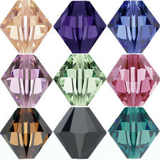 50/100Pcs Faceted Glass Crystal Loose Bicone Spacer Charms Bead 6mm DIY Crafts