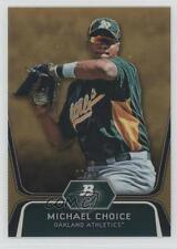 2012 Bowman Platinum Prospects Gold Refractor #BPP8 Michael Choice Baseball Card