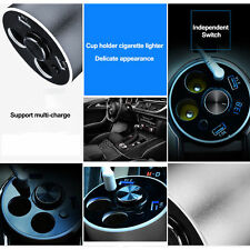 Dual USB Electric Cigarette Lighter Auto Car Charger with Bluetooth Headset