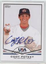 2011 Topps USA Baseball Team Autographs USA-A60 Cody Poteet (National Team) Auto