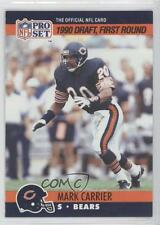 1990 Pro Set #674 Draft Mark A Carrier Chicago Bears A. Rookie Football Card
