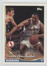 1993 Topps Safeway Golden State Warriors #GS12 Victor Alexander Basketball Card