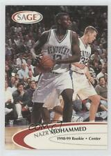 1998-99 SAGE Proof Set 34 Nazr Mohammed Kentucky Wildcats Rookie Basketball Card