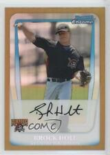 2011 Bowman Chrome Prospects Gold Refractor BCP201 Brock Holt Pittsburgh Pirates