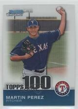 2010 Bowman Chrome Topps 100 Prospects #TPC45 Martin Perez Texas Rangers Card