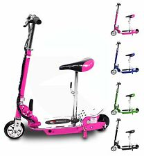 Electric E Scooter With Seat Ride on Rechargeable Battery Scooters Ride On Toy