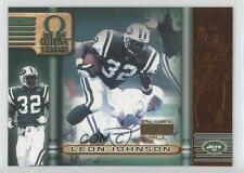 1999 Pacific Omega Copper Non-Numbered #166 Leon Johnson New York Jets Card
