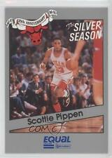 1990 Star Equal Chicago Bulls 25th Anniversary 12 Scottie Pippen Basketball Card