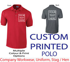 ~CUSTOM PRINTED POLO SHIRT~, Personalised - Stag,Hen / Workwear / Event / Staff