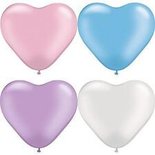 200pcs Colorful Heart Shaped Latex Balloons Wedding Birthday Party Decoration ES