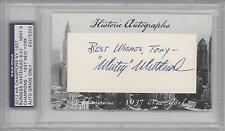 2012 Historic Autographs Champions Cut BYWH Burgess Whitehead AUTHENTICATED Auto