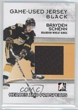 2009 In the Game Heroes and Prospects Game-Used Jersey Black M-06 Brayden Schenn