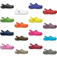 Crocs Classic Clogs - Black White Blue Red Pink Green Orange Purple Brown Gray