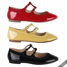 Womens Ankle Strap Mary Jane Ballerina Flats Ladies Pumps Ballet Casual Shoes