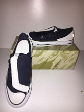 MAHARISHI WOMENS ASYM SUEDE AND CANVAS DAY SHOES IN STONE & NAVY!!!