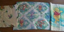VHTF DISNEY Winnie the Pooh & Friends TWIN FITTED SHEET PILLOWCASE AND SHAM