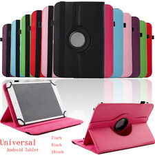 """Universal Leather Flip Case Cover For 7/8/10"""" Android Tablet Bluetooth Keyboard"""