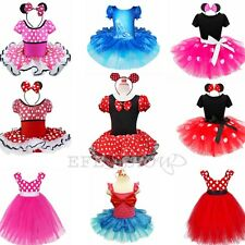 Xmas Kids Girls Baby Toddler Minnie Mouse Christmas Outfit Fancy Dress Costume