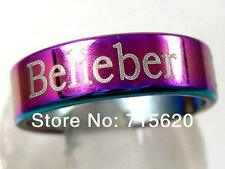 lots 10pcs JB Justin Bieber belieber stainless steel party  Rings