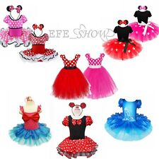 Kid Baby Girls Minnie Mouse Costume Dress Outfit Christmas Gift Polka Dot Dress