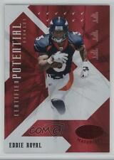 2008 Leaf Certified Materials Potential Red #CP-19 Eddie Royal Denver Broncos