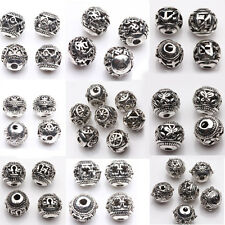 10/20X Tibet Silver Various Pattern Hollow Out Spacer Beads Jewelery Making