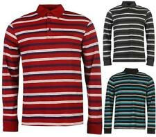 Pierre Cardin Long Sleeve Polo Shirt Mens Striped Casual Top ~All Sizes S - 4XL