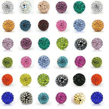 20Pcs Czech Crystal Rhinestones Clay  Round Disco Ball Spacer Beads 6/8/10/12mm