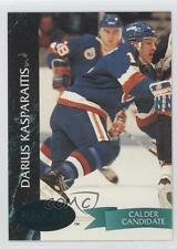 1992 Parkhurst Emerald Ice 102 Darius Kasparaitis New York Islanders Hockey Card