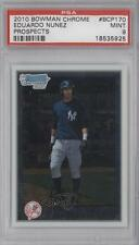 2010 Bowman Chrome Prospects #BCP170 Eduardo Nunez PSA 9 New York Yankees Card