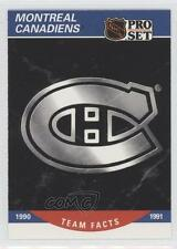 1990-91 Pro Set #575 Montreal Canadiens Team Hockey Card