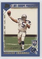 2000 Topps #352 Marcus Crandell Scottish Claymores (NFL Europe) RC Football Card