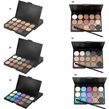 15 Colors Makeup Neutral Face Eye shadow Camouflage Concealer Palette W/Brush