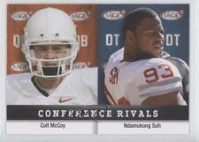2010 SAGE Squared #34 Ndamukong Suh Colt McCoy Cleveland Browns Football Card