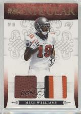 2010 Playoff National Treasures NFL Gear Combos Prime #15 Mike Williams Card