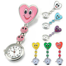 New Special Smiling Face Heart Clip-On Pendant Nurse Fob Brooch Pocket Watch