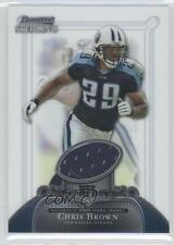 2006 Bowman Sterling Base Relics #BS-CB Chris Brown Tennessee Titans Card