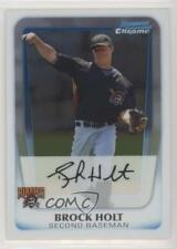 2011 Bowman Chrome Prospects #BCP201 Brock Holt Pittsburgh Pirates Baseball Card