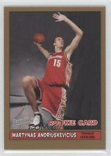 2005-06 Topps Bazooka Gold 208 Martynas Andriuskevicius Cleveland Cavaliers Card