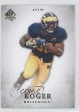 2012 SP Authentic #49 Kevin Koger Michigan Wolverines RC Rookie Football Card