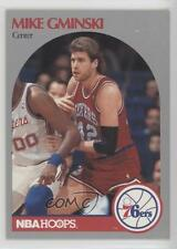 1990-91 NBA Hoops #228 Mike Gminski Philadelphia 76ers Basketball Card
