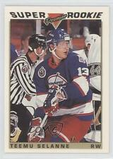 1993-94 Topps Premier Gold #130 Teemu Selanne Winnipeg Jets Hockey Card