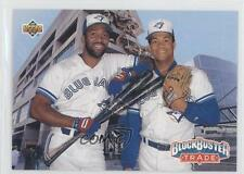 1993 Upper Deck #42 Teammates Joe Carter Roberto Alomar Toronto Blue Jays Card