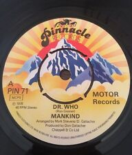 Mankind 'Dr Who / Time Traveller' UK Pinnacle 45 classic theme Ex 7