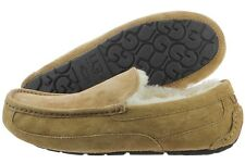 UGG Ascot 5775-CHE Chestnut Suede Wool Slippers Moccasin Shoes Medium (D, M) Men