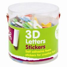 3D Shapes Foam Stickers for Art and Craft - 100 Pack