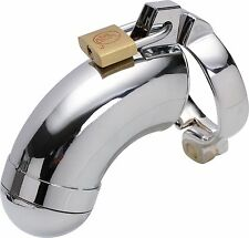 Male Chastity Device Chrome Plated Steel Metal Bondage Fetish CBT Slave Gay F03