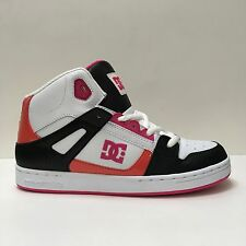 DC SHOES  REBOUND WHITE CRAZY PINK YOUTHS TRAINERS