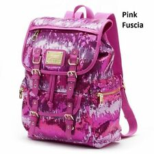 Juicy Couture Backpack Various Sequined Hot Pink-Fuscia, American Flag NWT
