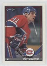 1991-92 O-Pee-Chee #90 Brent Gilchrist Montreal Canadiens Hockey Card
